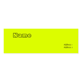 fluorescent yellow Double-Sided mini business cards (Pack of 20)