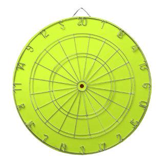 Fluorescent Yellow Dartboard With Darts