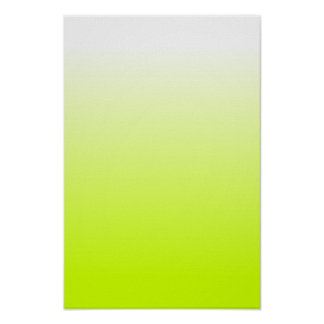Fluorescent Yellow Gradient Poster