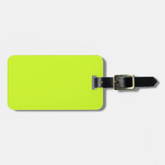 Fluorescent Yellow Travel Bag Tag