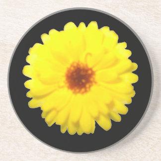 Fluorescent Yellow Marigold Coasters
