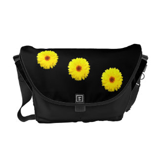 Fluorescent Yellow Marigold Messenger Bag
