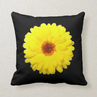 Fluorescent Yellow Marigold Pillow