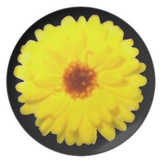 Fluorescent Yellow Marigold Plate