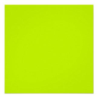 Fluorescent Yellow Poster
