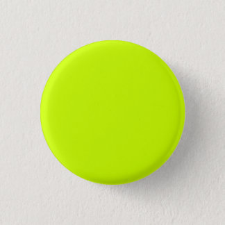 Fluorescent Yellow Simple Single Color Pinback Button