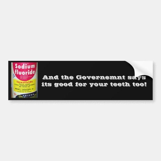 Fluoride Bumper Sticker