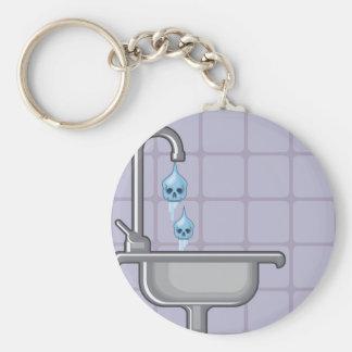 Fluoride water poison basic round button keychain
