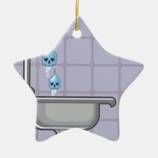 Fluoride water poison ceramic ornament