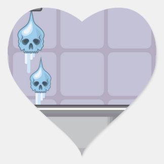 Fluoride water poison heart sticker