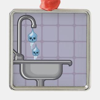 Fluoride water poison metal ornament