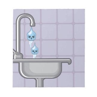 Fluoride water poison notepad