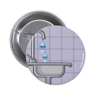 Fluoride water poison pinback button