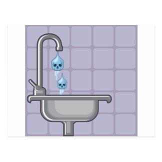 Fluoride water poison postcard