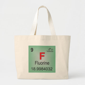 Fluorine Individual Element of the Periodic Table Tote Bags