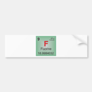 Fluorine Individual Element of the Periodic Table Bumper Sticker
