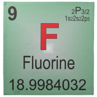 Fluorine Individual Element of the Periodic Table Napkin