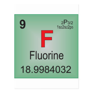 Fluorine Individual Element of the Periodic Table Postcard