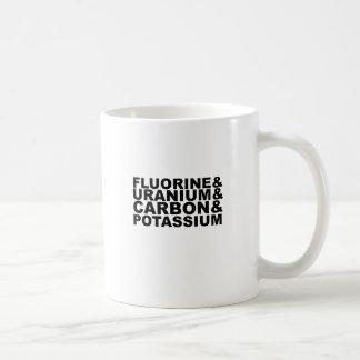 Fluorine Uranium Carbon Potassium Tshirt L.png Coffee Mug