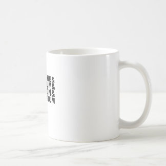 Fluorine Uranium Carbon Potassium Tshirt L.png Coffee Mugs