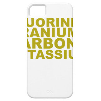 Fluorine Uranium Carbon Potassium Tshirt.png iPhone SE/5/5s Case