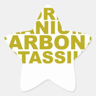 Fluorine Uranium Carbon Potassium Tshirt.png Star Sticker