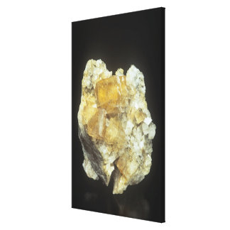 Fluorite crystals on Calcite Canvas Print