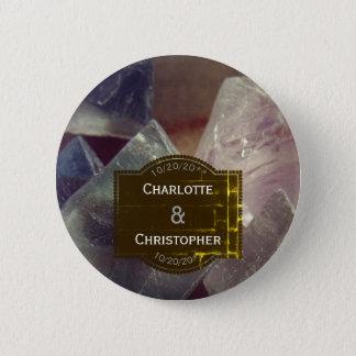 Fluorite Gemstone Wedding favour button