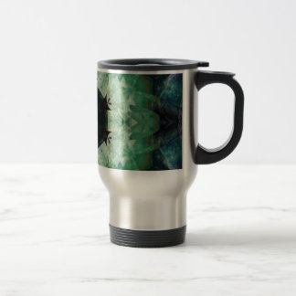 Fluorito púrpura verde claro y oscuro taza