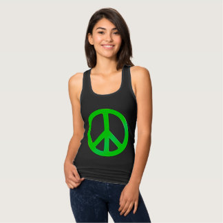 Fluoro Green Peace Symbol for World Peace T Shirts