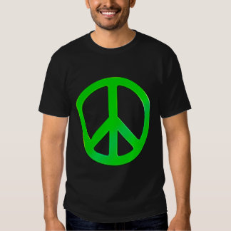 Fluoro Green Peace Symbol - Time for Change Shirt