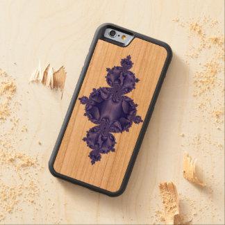 Flur de Fractal sobre la madera Funda De iPhone 6 Bumper Cerezo