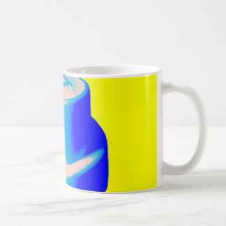 fluro cap Mug Yellow