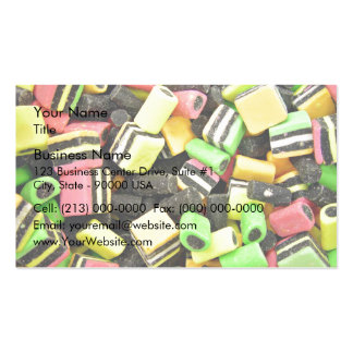 Fluro-coloured liquorice Double-Sided standard business cards (Pack of 100)