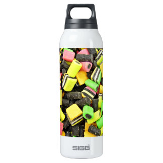 Fluro-coloured liquorice 16 oz insulated SIGG thermos water bottle