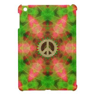 Fluro  Hexagon Gold Peace Sign iPad Mini Case