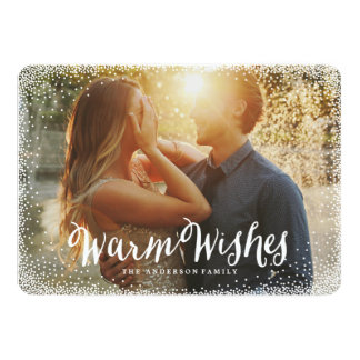 "Flurries | Holiday Photo Card 5"" X 7"" Invitation Card"