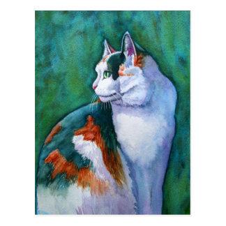 Flurry in Profile Postcard