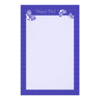 Flurry of Lavender Butterflies Stationery