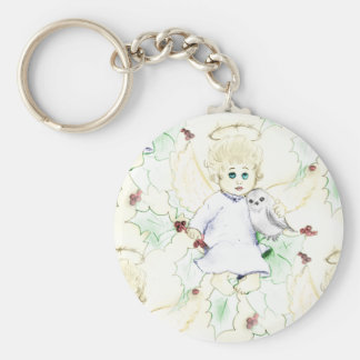 Flurry of Little Christmas Angels Keychain