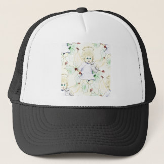 Flurry of Little Christmas Angels Trucker Hat