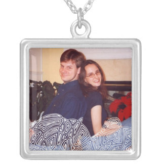 Flurry Photo Template Silver Plated Necklace