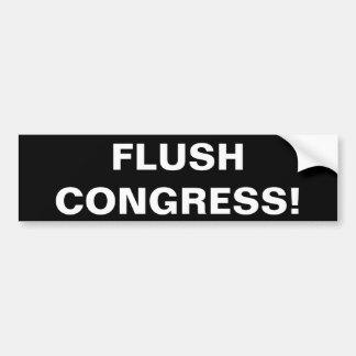 FLUSH CONGRESS! CAR BUMPER STICKER