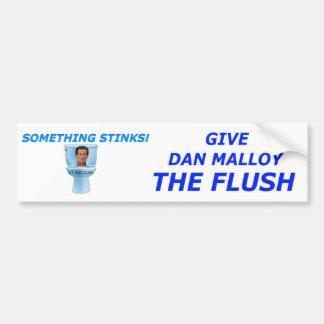 Flush Dan Malloy Car Bumper Sticker