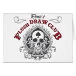 Flush Draw Club Greeting Card