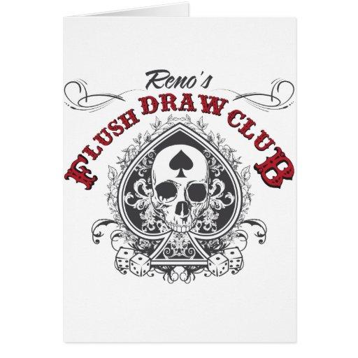 Flush Draw Club Greeting Cards