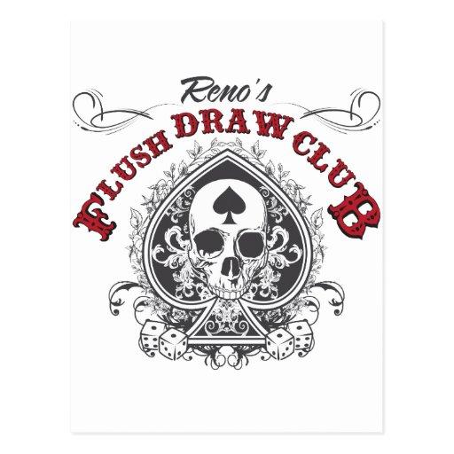 Flush Draw Club Post Cards