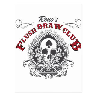 Flush Draw Club Postcard