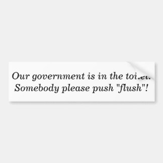Flush Government Car Bumper Sticker