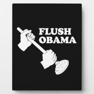 Flush Obama Display Plaques
